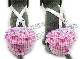 ☆狗狗之家☆日本P.P.J假兩件式吊帶生理褲~草莓 香橙 綠葉