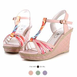 《Fairy girl 童話e櫥》波西米亞風羅馬涼鞋-H6