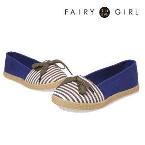 《Fairy girl 童話e櫥》糖果色拼接蝴蝶綁帶懶人鞋/帆布鞋/厚底鞋/休閒鞋C2