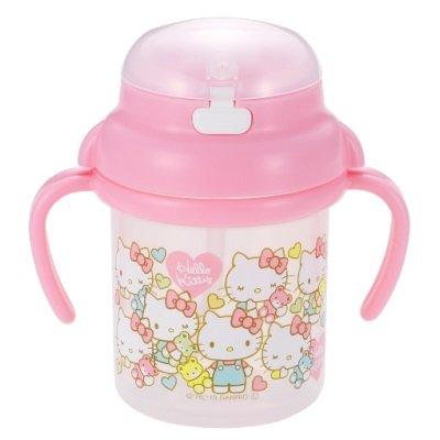 日本 Sanroi  三麗鷗  彈蓋吸管式水壺 (日本製) - Hello Kitty (日本限定款)   兒童水壺