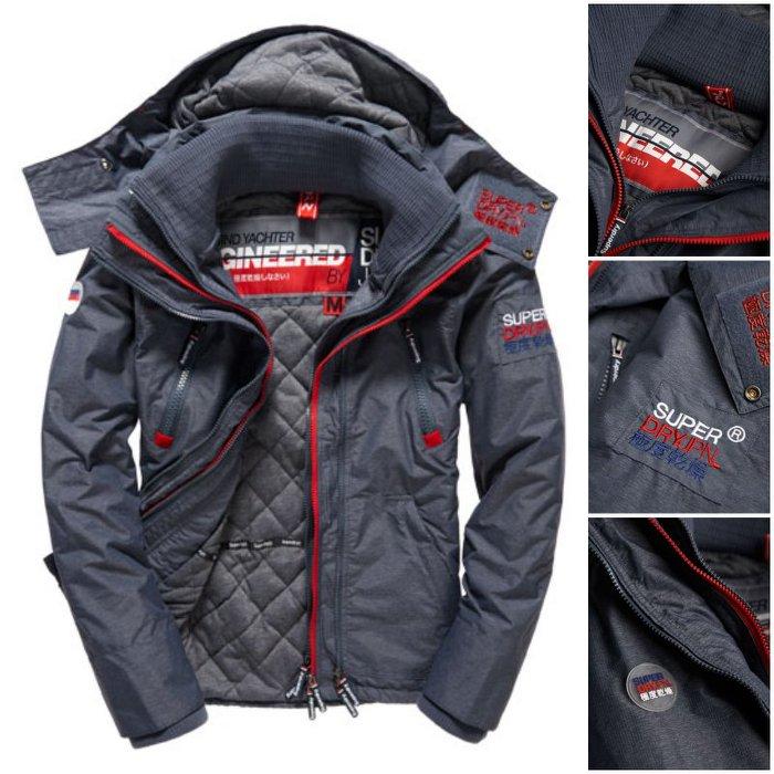 [男款]英國代購 極度乾燥 Superdry Arctic Wind Yachter 男士風衣戶外休閒外套 防水防風 深灰色 0