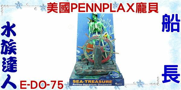【水族達人】美國PENNPLAX-龐貝《船長 E-DO-75》  骷髏人 魚缸裝飾 沉底飾品 造景裝飾 氣動飾品