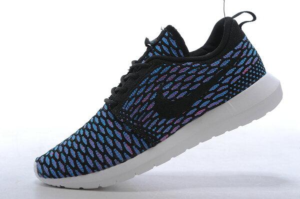 Nike Roshe Run Flyknit 倫敦編織飛線 慢跑鞋 運動鞋 男鞋 孔雀藍