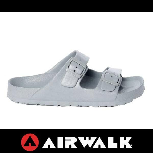 萬特戶外運動-AIRWALK A535220111 美國運動流行 台灣製造 雙扣環拖鞋 EVA 運動拖鞋 勃肯鞋款BIRKENSTOCK 全灰