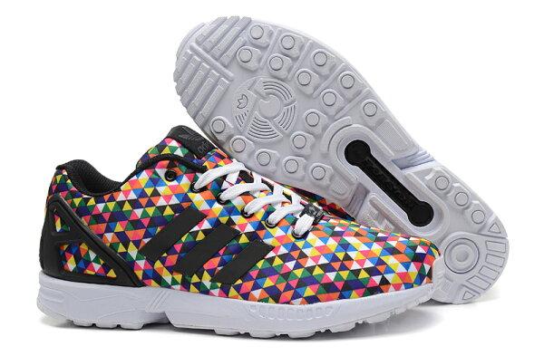 Adidas 三葉草 ZX FLUX 彩虹色 M19845 限量款 男女款