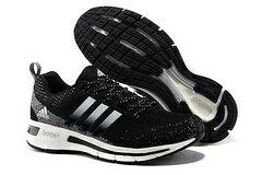 Adidas 愛迪達 爆米花飛線boost黑白 林書豪同款 男女情侶鞋