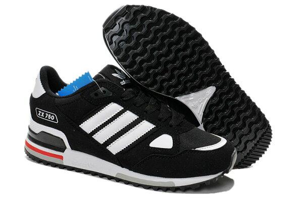 Adidas/愛迪達 ZX750系列 男女鞋 時尚潮流慢跑鞋 運動休閒鞋 情侶鞋(36—45黑白)