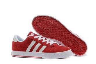 Adidas/愛迪達 NEO低幫系列 男女帆布鞋 情侶板鞋 潮流休閒鞋(36—45紅白)