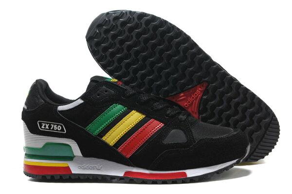 Adidas/阿迪達斯 ZX750系列 男女鞋 慢跑鞋 運動休閒鞋 情侶鞋(36—44黑紅綠黃)