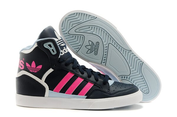 Adidas/愛迪達 M21163 范冰冰同款 時尚高幫 休閒女鞋(黑粉36-39)