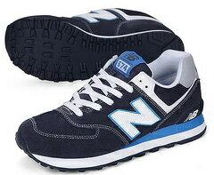 New Balance 新百倫574NYW黑蘭/月 男女情侶鞋
