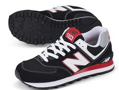 New Balance  新百倫574KRW 黑/紅 男女情侶鞋