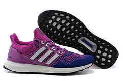 Adidas ultra boost男女運動跑步鞋 紫白 女鞋