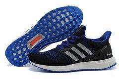 Adidas ultra boost運動跑步鞋 黑藍 男鞋