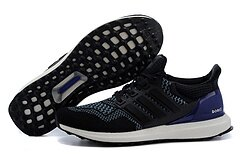 Adidas ultra boost男女運動跑步鞋 黑紫 男女情侶鞋