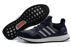 Adidas ultra boost運動跑步鞋 深藍銀 男鞋