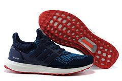 Adidas ultra boost運動跑步鞋 深藍紅 男鞋
