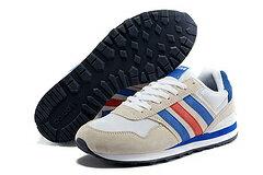 Adidas NEO新款10k復古跑鞋白蘭紅 男女情侶鞋