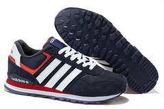 Adidas NEO新款10k復古跑鞋深藍白 男鞋
