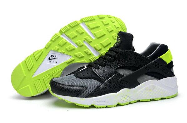 Nike Air Huarache 華萊士 黑熒光綠 男鞋