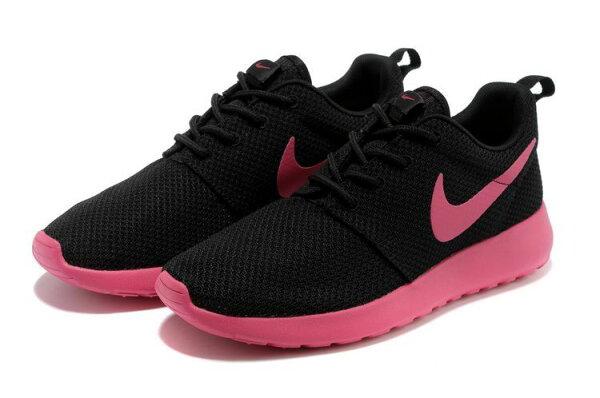 Nike 倫敦 奧運網布新款跑鞋 黑桃紅 女鞋