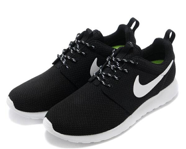 Nike Roshe Run 倫敦奧運 新款網布跑鞋  黑白  男女鞋