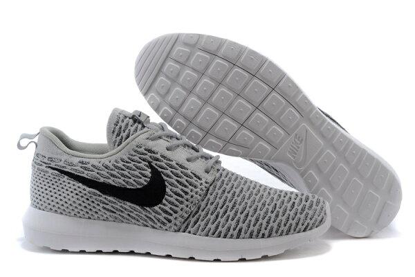 耐克倫敦編織飛線Nike Roshe Run Flyknit 677243系列 灰色 男女鞋