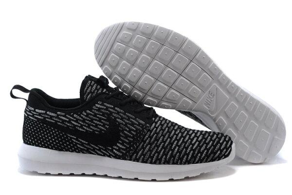 耐克倫敦編織飛線Nike Roshe Run Flyknit 677243系列 灰黑 男女鞋