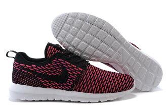 耐克倫敦編織飛線Nike Roshe Run Flyknit 677243系列 黑紅 男女鞋