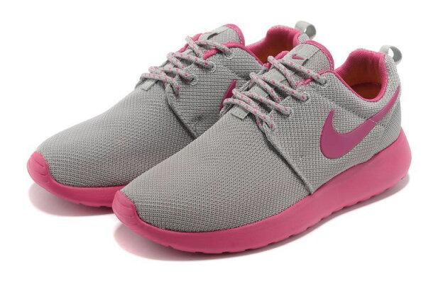 Nike 倫敦 奧運網布新款跑鞋  灰桃紅  女鞋