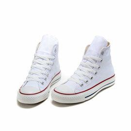 Converse/匡威 經典帆布高幫鞋 男生女生板鞋 情侶運動休閒鞋 慢跑鞋(白色35-43)