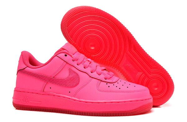 Nike AIR FORCE 1 NK AF1GS 空軍一號 熒光粉 女鞋