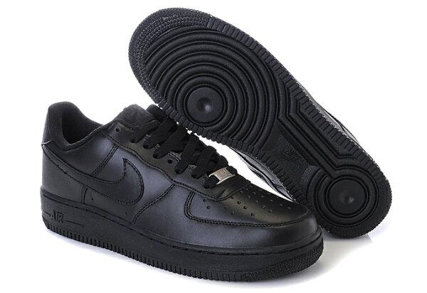 NIKE AIR FORCE 1 NK AF1 空軍一號 新經典情侶板鞋 全黑 低幫 男女鞋
