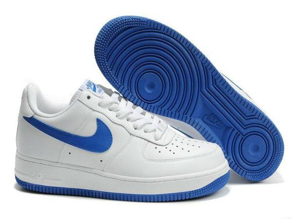 NIKE AIR FORCE 1 NK AF1 空軍一號 新經典情侶板鞋 白藍低幫 男女鞋