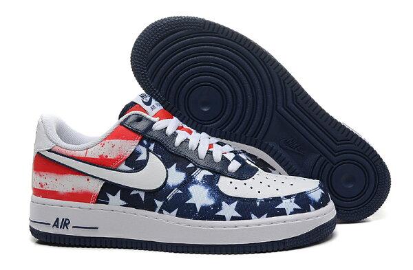 NIKE AIR FORCE 1 NK AF1 空軍一號 新經典情侶板鞋 美國獨立日 男鞋