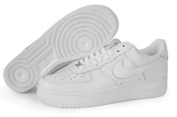 NIKE AIR FORCE 1 NK AF1 空軍一號 新經典情侶板鞋 全白 低幫 男女鞋