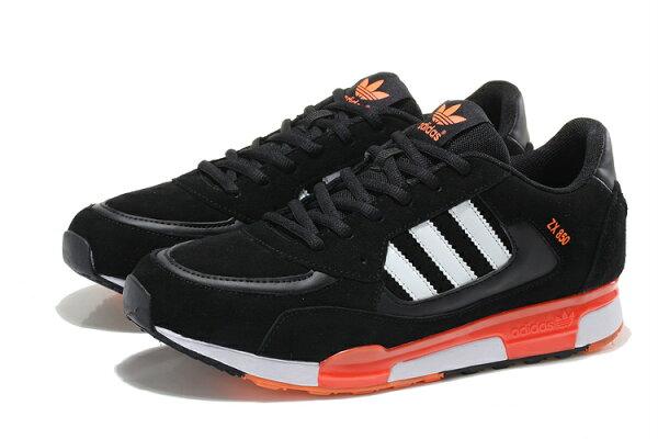 Adidas 愛迪達 ZX850三葉草 李敏鎬 金嘆款 黑/桔紅 男鞋