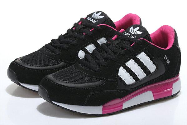 Adidas 愛迪達 經典款李敏鎬金嘆款三葉草ZX850 黑桃紅 女鞋