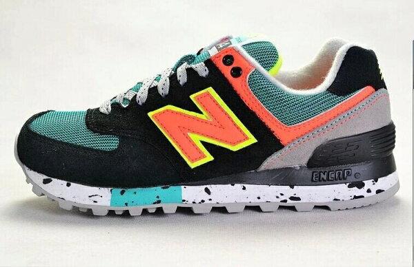 New Balance-新百倫574-攀岩系列WL574OGP 女生慢跑鞋運動休閒鞋(黑綠橘36-39)
