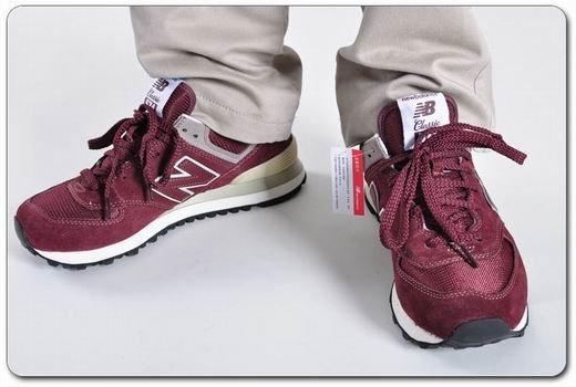 New Balance三原色復古男女跑鞋ML574VG/VN/VB 情侶鞋 休閒運動鞋(暗酒紅色)