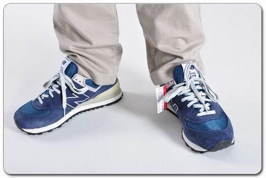 New Balance三原色復古男女跑鞋ML574VG/VN/VB 情侶鞋 休閒運動鞋(海軍藍)