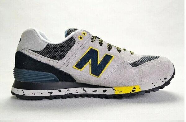 New Balance-新百倫574-攀岩系列WL574OGP 情侶慢跑鞋 運動休閒鞋(淺灰黑36-44)