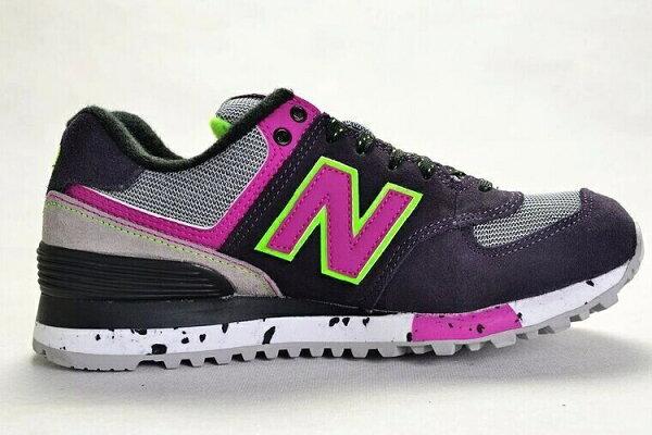 New Balance-新百倫574-攀岩系列WL574OGP 女生慢跑鞋運動休閒鞋(深灰粉36-39)