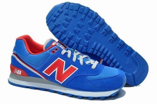 New Balance/新百倫ML574SGW/SJR/SJK男鞋女鞋情侶運動鞋 休閒鞋 慢跑鞋(藍紅色)