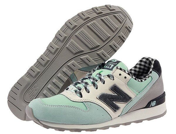 New Balance/ 復古996格子系列WR996CW/CS女生運動休閒鞋 慢跑鞋(36—39格子藍)