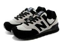 New Balance 美國慢跑鞋/跑步鞋推薦New Balance 新百倫US574W1第一彈 黑暗騎士 女鞋 23.5cm
