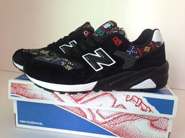 New Balance 新百倫 580 波西米亞風 男生女生鞋 運動休閒鞋 情侶慢跑鞋(黑色36-44)
