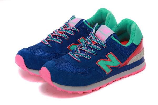 New Balance 574 經典款復古NB帆船鞋潮款運動休閒鞋 糖果藍粉運動女鞋