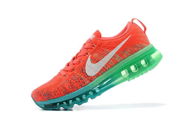 耐克/Nike air max 全掌彩虹氣墊 女生運動休閒鞋 慢跑鞋(橘紅水綠36-39)