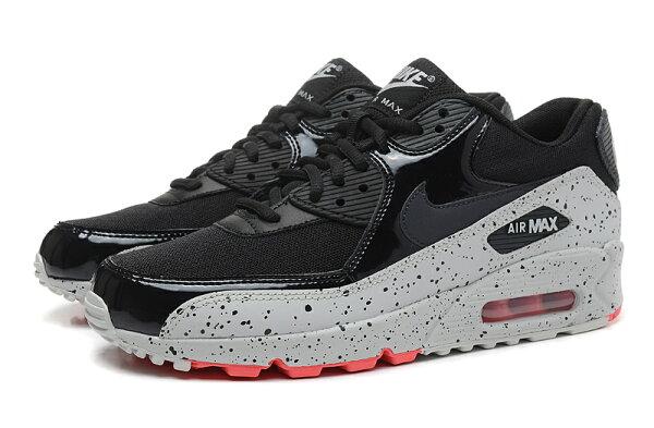 NIKE/耐克NIKE AIR MAX 90星空潑墨 氣墊情侶慢跑鞋 運動休閒鞋(黑白36-45)
